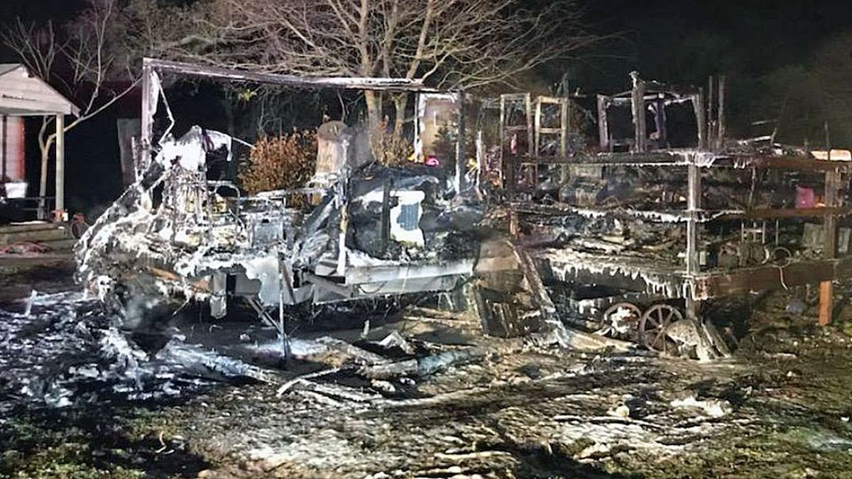 A travel trailer a Temple resident was using as a home is a total loss after a late-night fire.