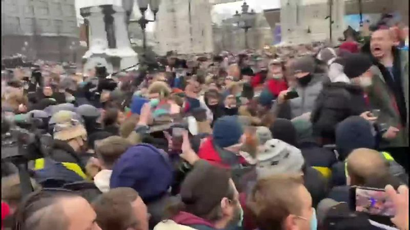 The Russian Interior Ministry says about 4000 people took part in protest in Moscow. (Source:...