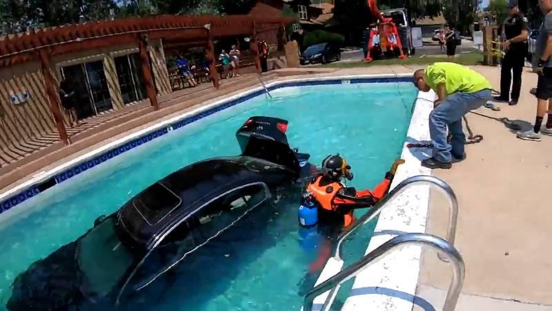 A teen drove into a Colorado pool on 7/15/21.