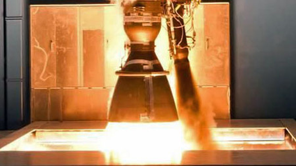 A test firing of a SpaceX Merlin engine. (SpaceX photo/file)