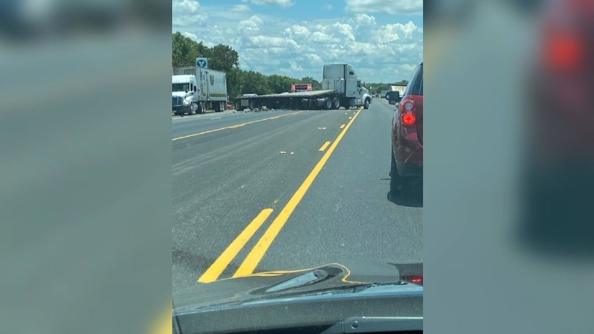 A multi-vehicle crash involving an 18-wheeler happened on Highway 6 just north of the Benchley...