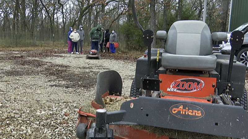 Friday, members of the community stepped up to help by donating lawnmowers and other lawn care...