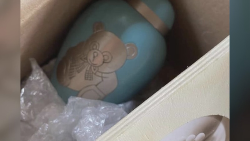 An urn, believed to be of a baby boy's ashes, has been found in Temple where the community is...