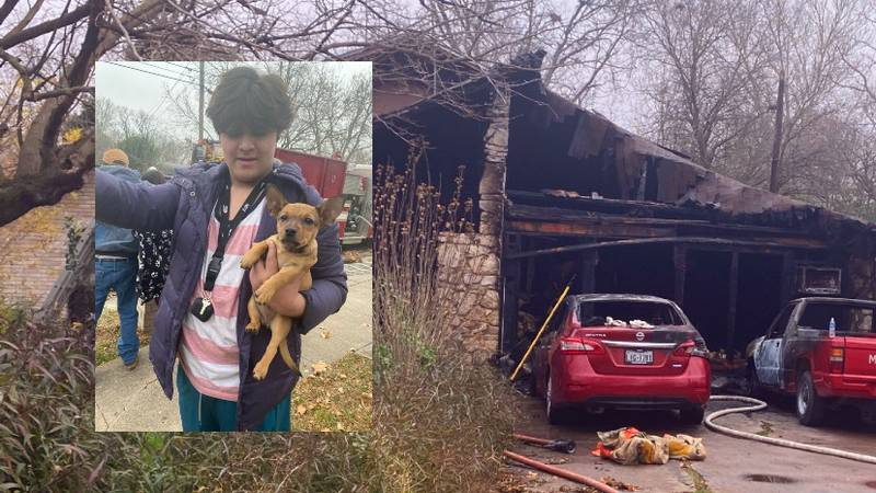 A fire in Beverly Hills, Texas heavily damaged a home and destroyed two vehicles, police said.