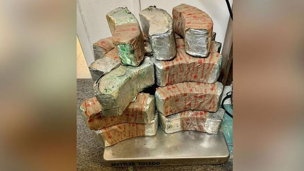 Packages containing 73 pounds of methamphetamine seized by CBP officers at Eagle Pass Port of...