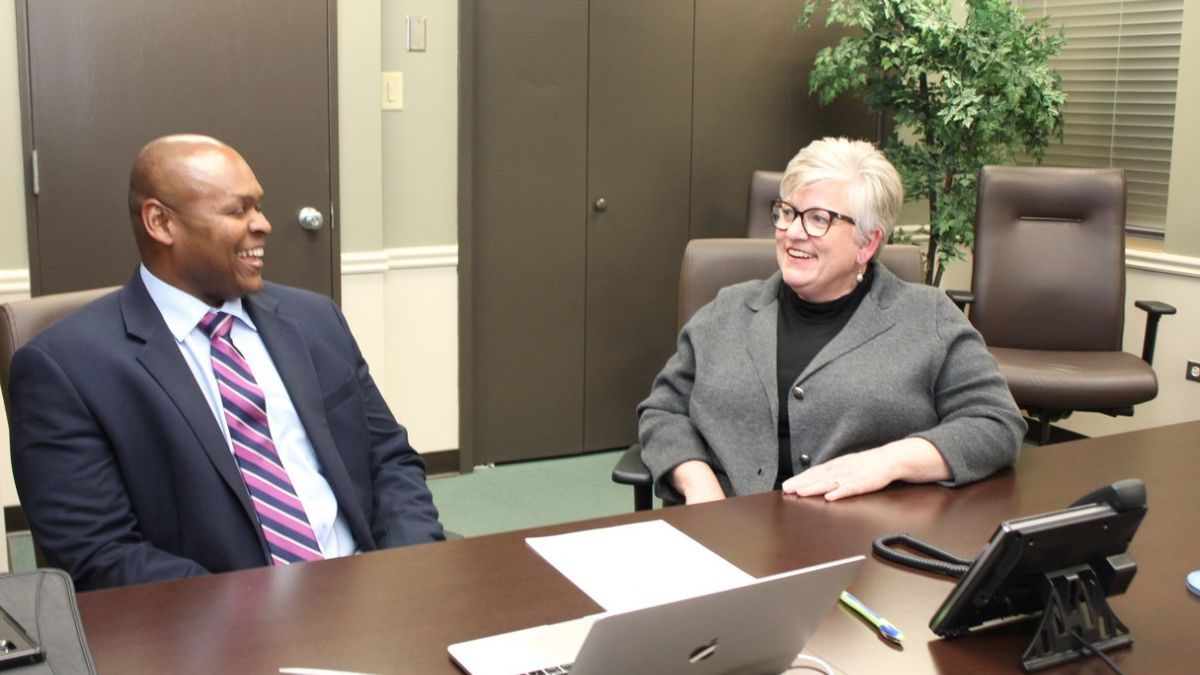 Dr. Frank Graves, Dean of Workforce & Public Service at McLennan Community College, moderates a live, call-in Q&A Tuesday night with Dr. Kincannon, the Superintendent of the Waco Independent School District.  (Courtesy photo)