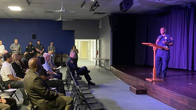 The Killeen Police Department held a community conversation at Potter's House Church Thursday...