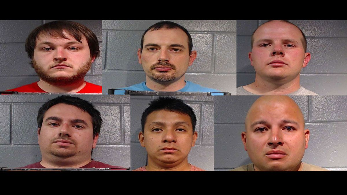 Six men were arrested in the online sting.  (Copperas Cove Police Dept. photos)