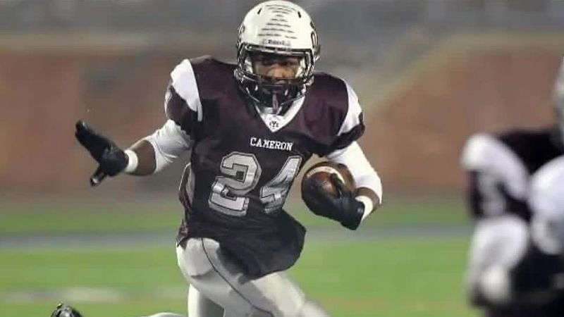 Cameron Yoe football star Traion Smith, drowned Sunday afternoon when the boat from which he...