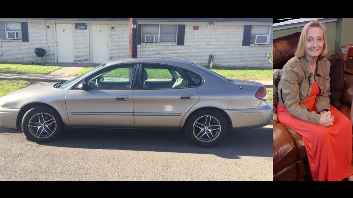Kimberly Fuchs, 58 was last seen driving a gold Ford Taurus in the Temple area, police said. (Temple Police Dept. photos)