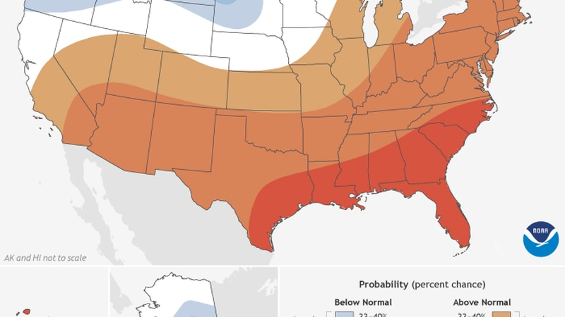 The Climate Prediction Center and the National Oceanic Atmospheric Administration released the...