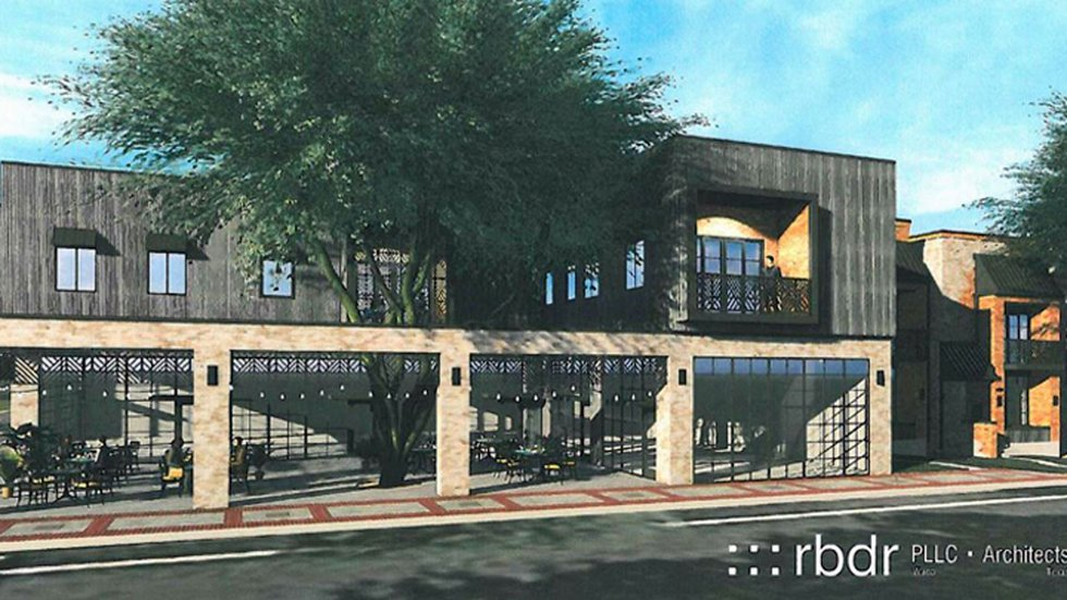 Architect's rendering of the complex, which will include residential and commercial space.
