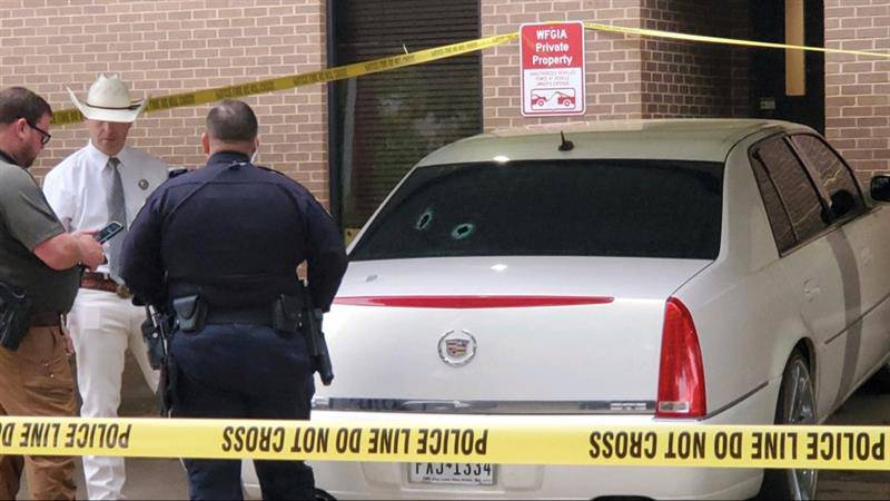 The Cadillac involved in Monday night's shooting has been located.
