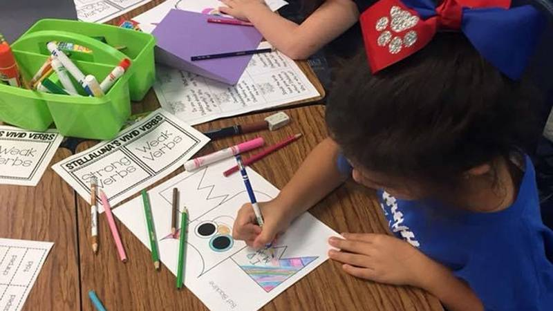 The supplies needed include composition notebooks, pencils, glue sticks, crayons, markers, dry...