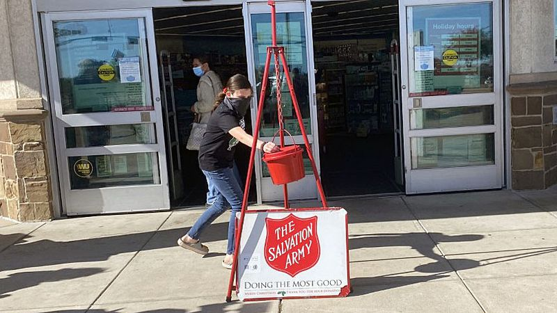 The Salvation Army's annual Red Kettle drive looks a little different from past drives amid a...