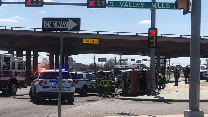 Waco firefighters freed a victim from a vehicle Friday afternoon.