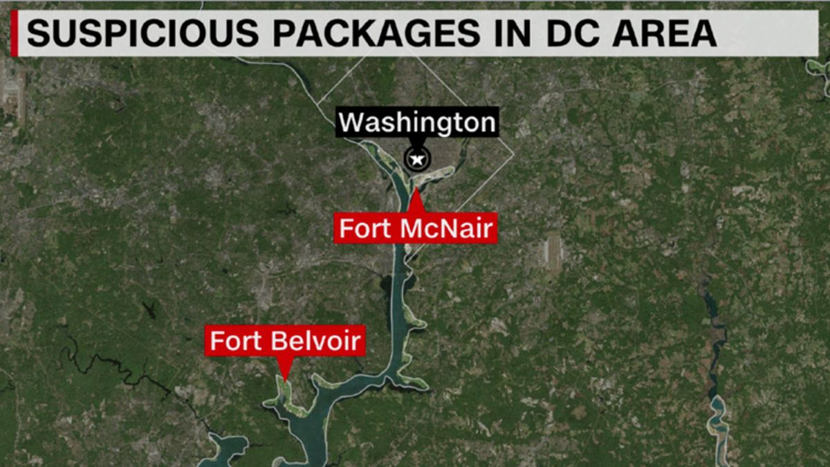 The FBI has taken custody of multiple suspicious packages sent to military locations in the Washington, DC area, a law enforcement official said Monday.