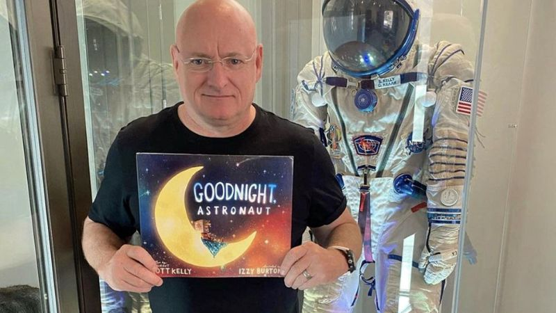 """Goodnight Astronaut"" is the second picture book by the veteran of four space flights."