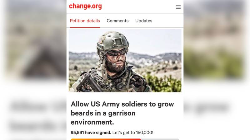 A push to force the us military to allow soldiers to have facial hair has gained steam...