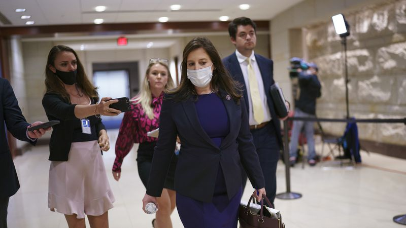 Rep. Elise Stefanik, R-N.Y., who has been endorsed by GOP leaders to replace Rep. Liz Cheney,...