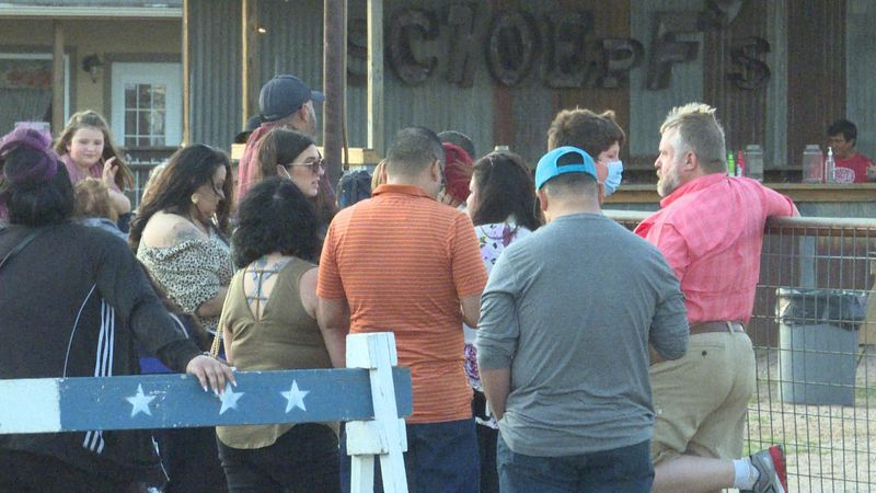 Dozens of Central Texans gathered at Schoeff's BBQ in Belton for a concert outdoors Saturday...