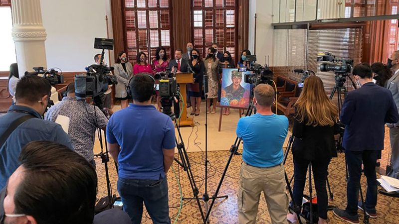 The bill was the focus of a news conference Tuesday in Austin.