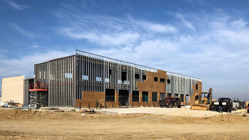 A 12,000-square-foot travel center is under construction along Interstate 35 in Central Texas.