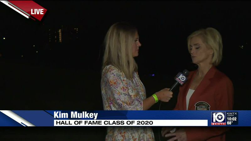 On the eve of her Hall of Fame induction, former Baylor Coach Kim Mulkey says she's excited and...