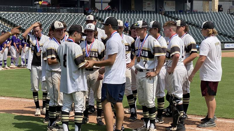 Hubbard gets medals after making its first ever appearance in the state baseball tournament....