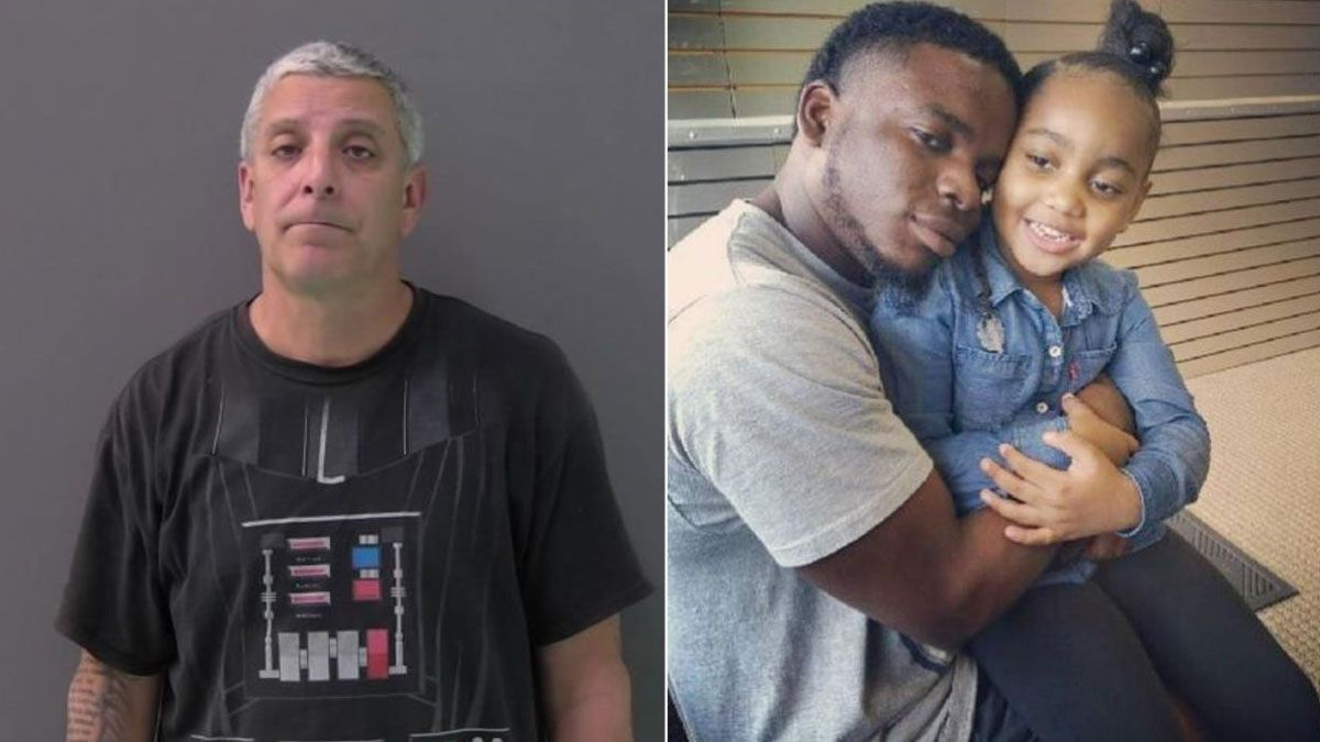 Temple Officer Carmen DeCruz, 52, (left) is charged with manslaughter in the shooting death of Michael Dean, 28. (Jail photo/family photo)