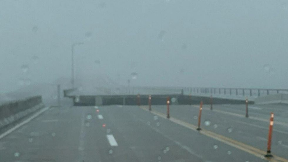 A section of Three Mile Bridge in Pensacola is gone thanks to Hurricane Sally.
