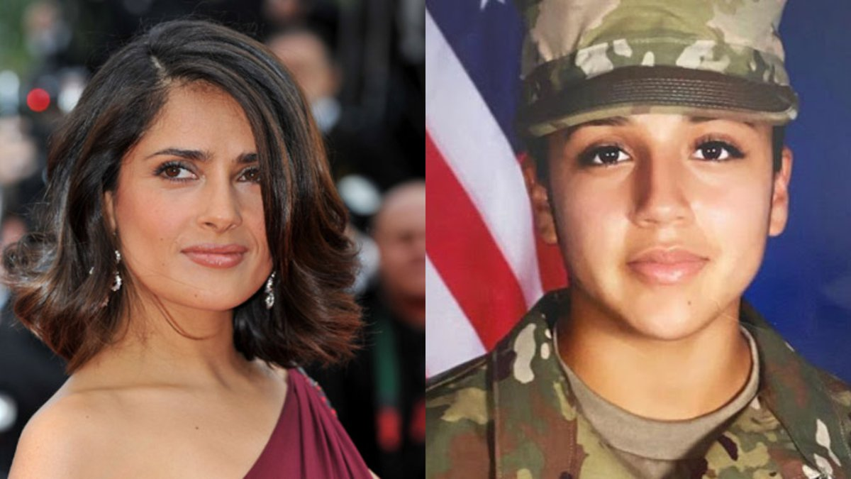 Actress Salma Hayek is raising awareness about the disappearance of Fort Hood soldier Vanessa...