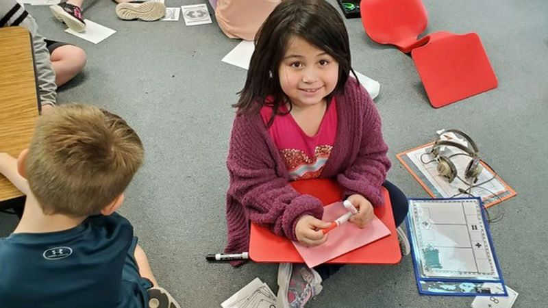 The Lorena Primary School first graders made Valentine's Day cards for healthcare workers at...