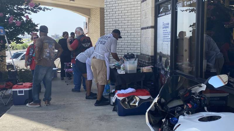 In an effort to help the homeless of Central Texas, the Iron Horse Disciples motorcycle club...