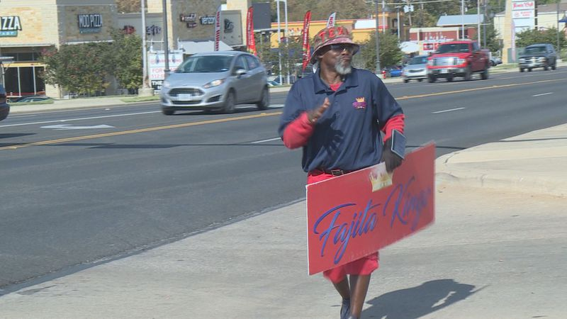 """Community rallies to raise money for local """"sign guy"""""""