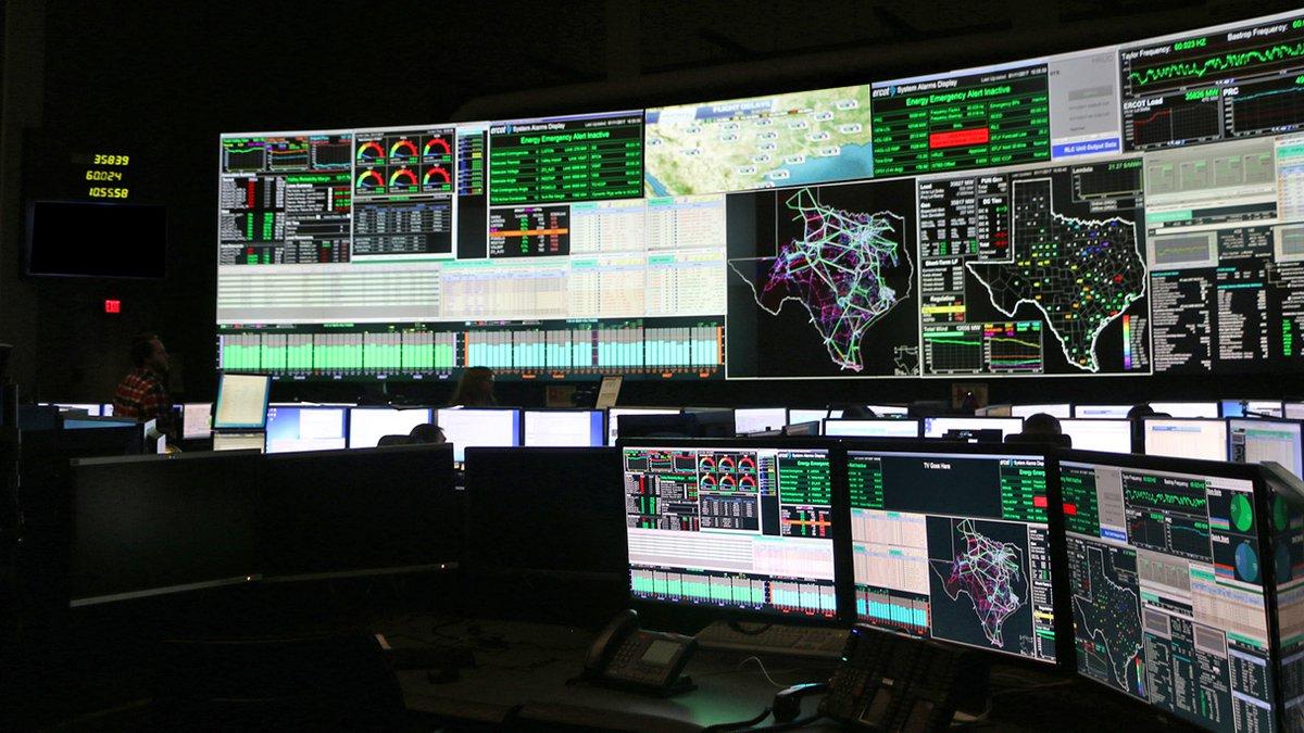 """ERCOT""""s control room."""