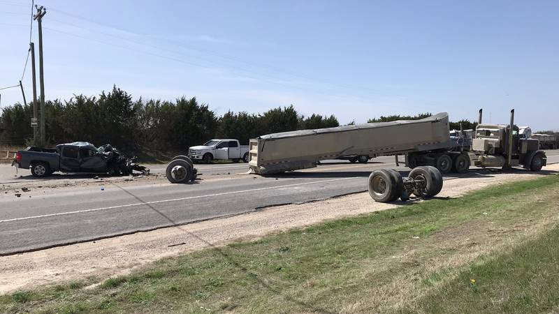 The accident happened on State Highway 174 near Chisholm Trail Park west of Blum.