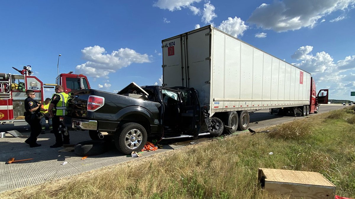 Salado firefighters were able to free the driver, but the victim died at the scene.