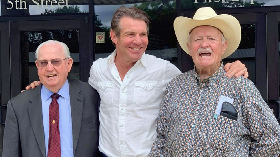 Actor Dennis Quaid with his uncles.