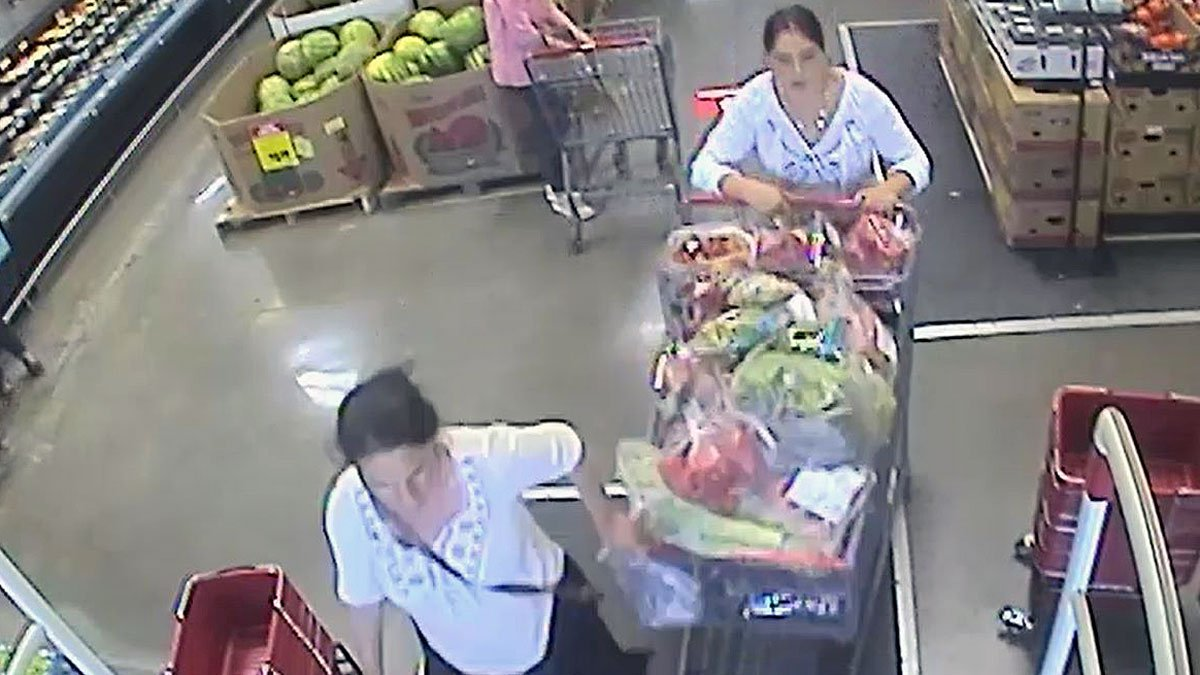Woodway police released surveillance photos Wednesday of two women wanted in connection with...