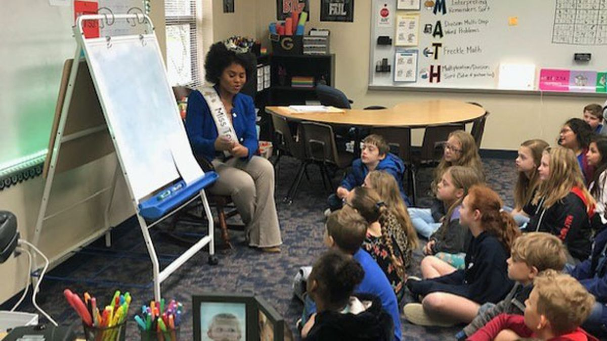 Miss Texas 2019, Chandler Foreman is spending Thursday and Friday speaking to local elementary school students and youth at Mission Waco about the importance of embracing their authentic self and dreaming big. (Photo by John Carroll)