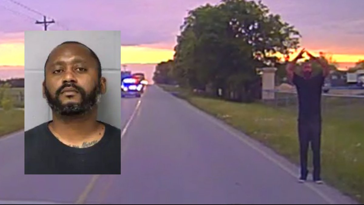 Police officers with the Manor Police Department arrested Stephen Broderick, the man accused of...