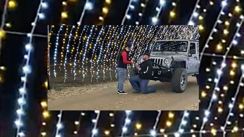 A Central Texas couple plans to tie the knot in 2022 after a surprise proposal in the middle of...