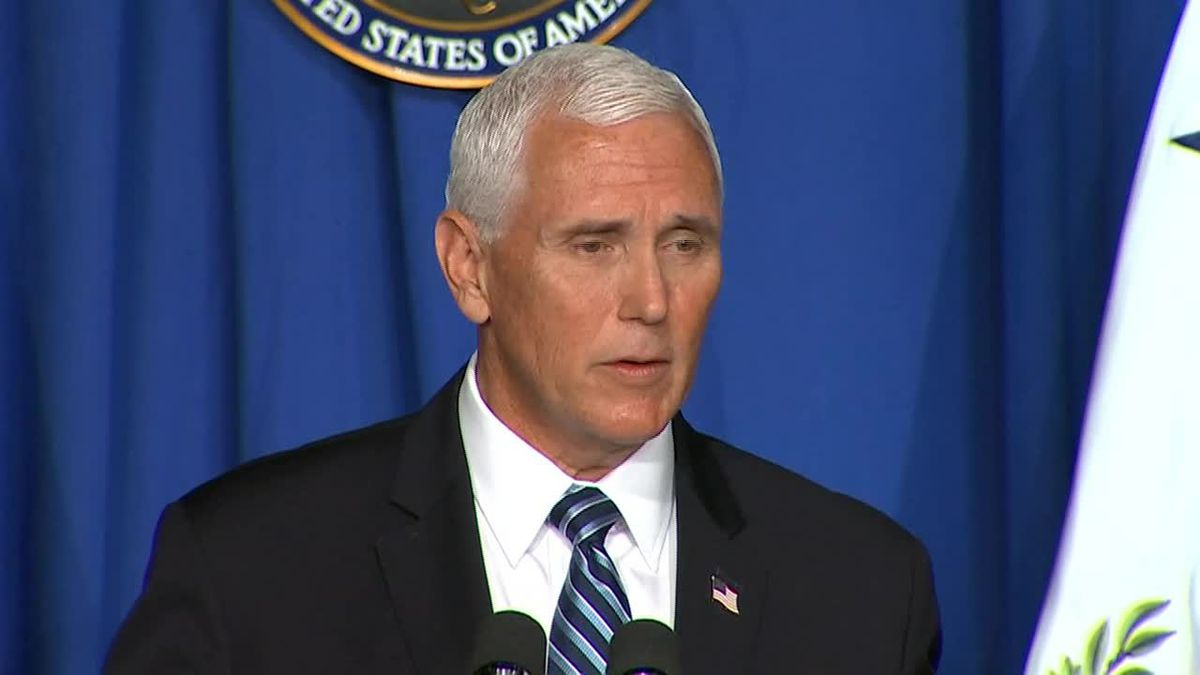 """Vice President Mike Pence says the White House will be """"respectful"""" of places that can't reopen schools."""