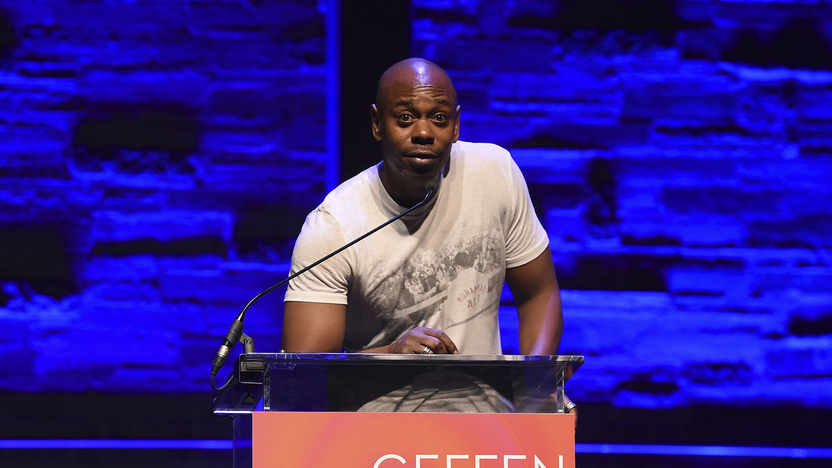 Dave Chapelle speaks at Backstage at the Geffen Gala on Sunday, March 19, 2017, in Los Angeles.