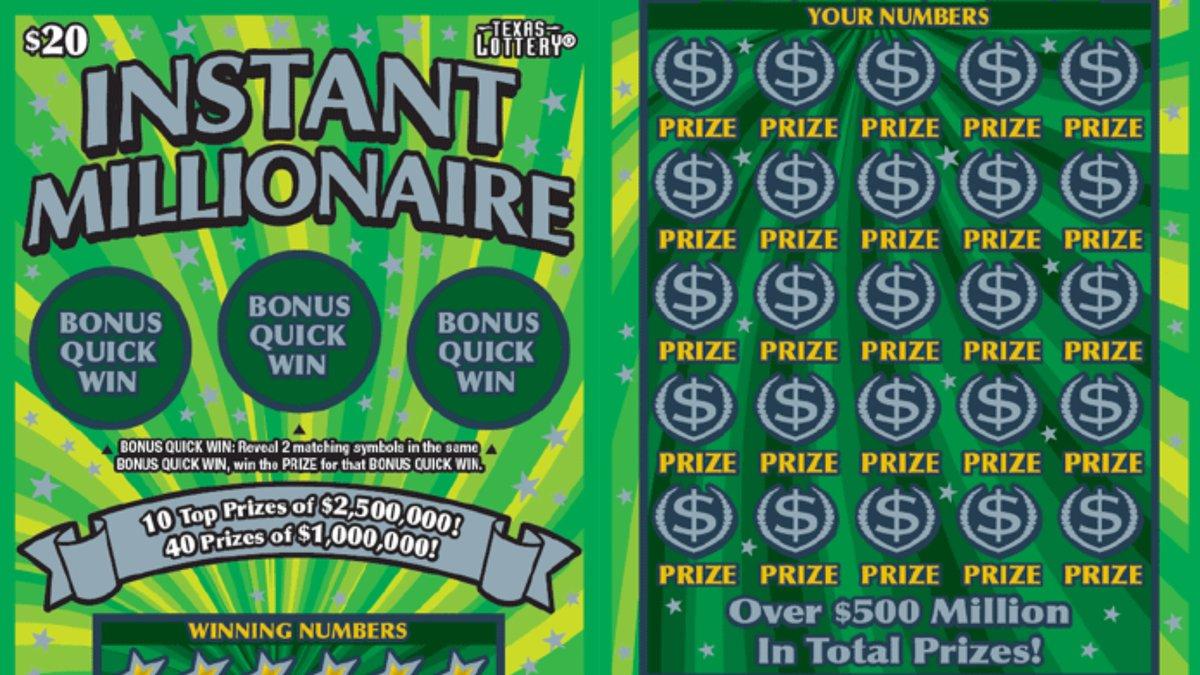 Instant Millionaire scratch ticket