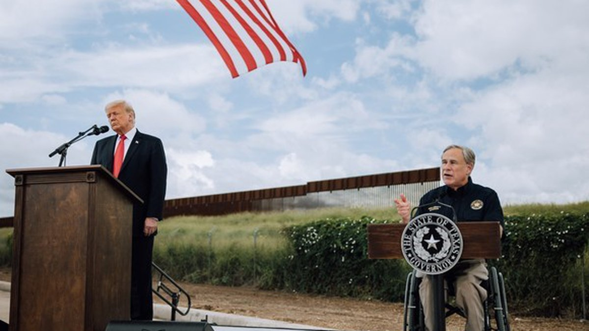 Governor Abbott Hosts 45th President Donald J. Trump For Border Security Briefing, Border Wall...