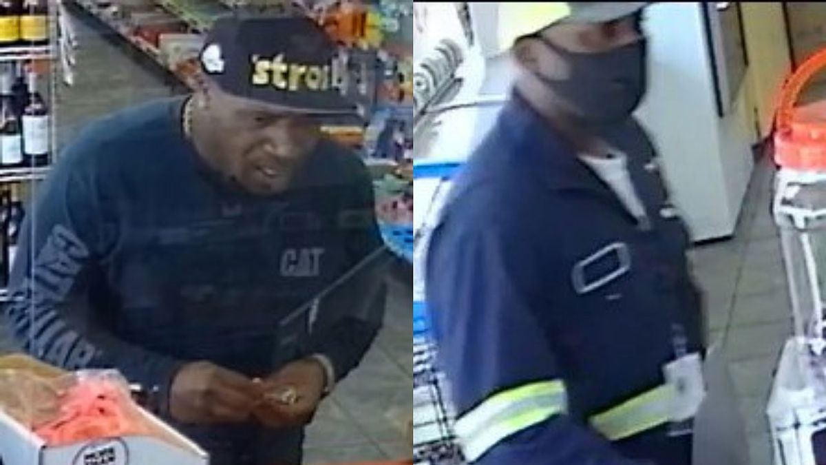 Police released surveillance photos Monday of two men wanted in the theft of about $8,000 from a local convenience store. (Temple Police Dept. photos)