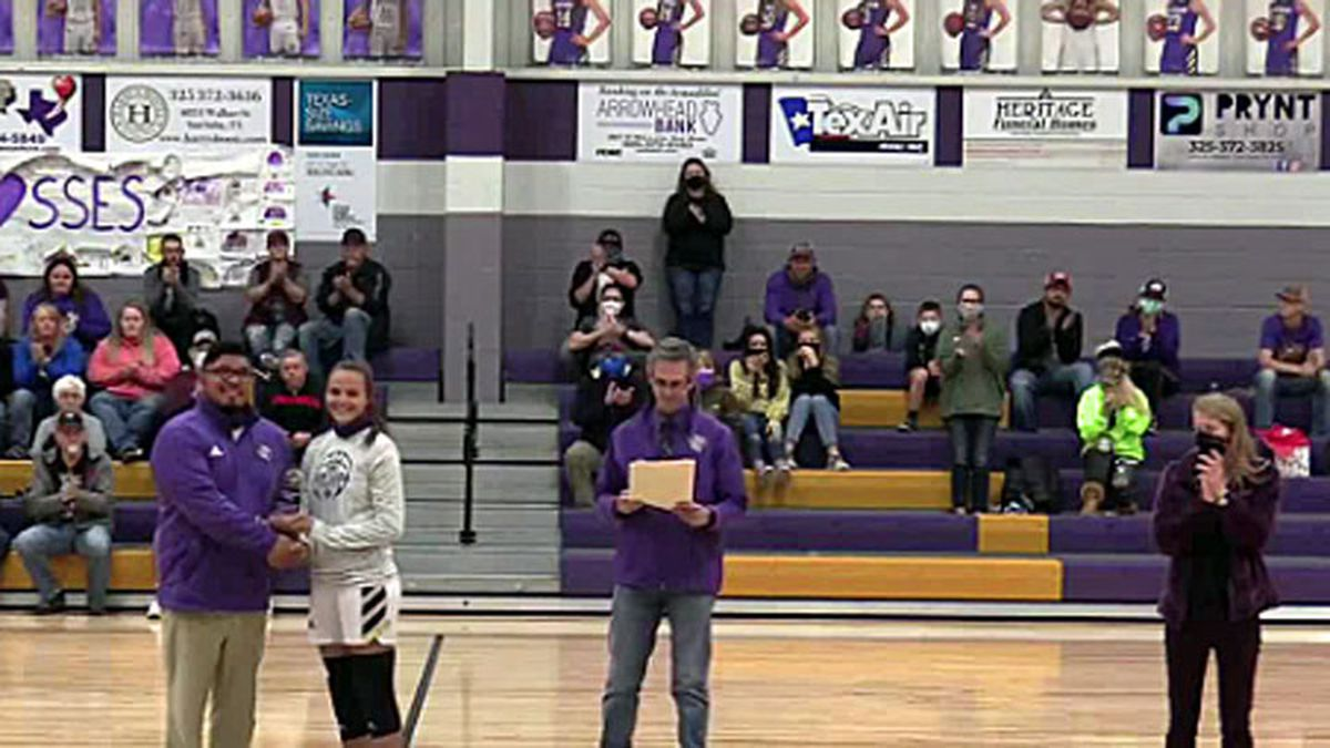 San Saba senior Courtnee Cash (second from left) was named a Semper Fidelis All-American.