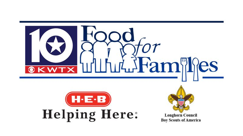 Food For Families is an annual project for the Longhorn Council, Boy Scouts of America, H.E.B....